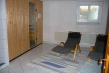 Kellergeschoss-Sauna, Ruheraum